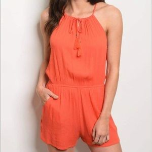 Other - Coral Romper